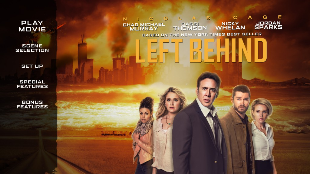 Left Behind Blu-Ray Interface Design