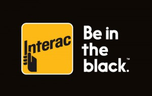 Interac Be In the Black Logo Bug