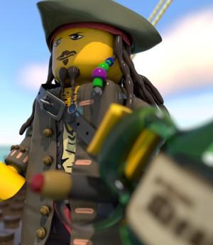 Jack Sparrow Lego Man